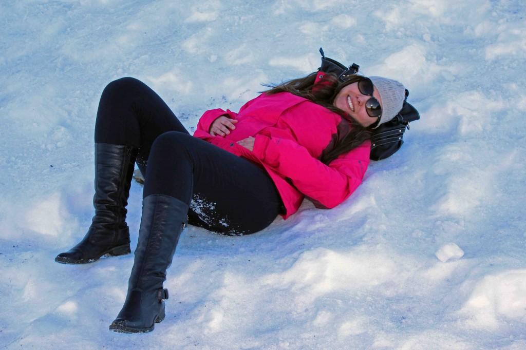 Farofa na neve? Pode! Desde que com segurança! © Marina Aurnheimer /  Imagina na Viagem