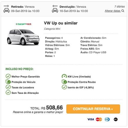 Preço do aluguel de carro na Itália - Veneza © RentCars