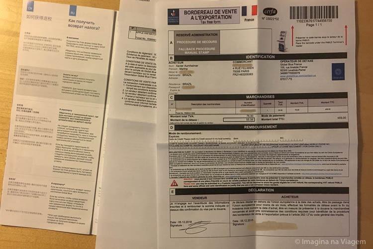 Tax Free Paris - Como fazer o détaxe na França © Imagina na Viagem